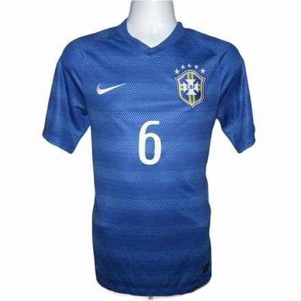 2014-2015 Brazil Away Football Shirt #6 Marcelo, Nike, (Mint Condition)